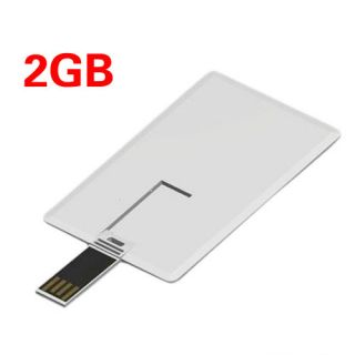 New Blank Credit Card Style 2GB 2G USB Flash Drive 2 0 Silm for Office