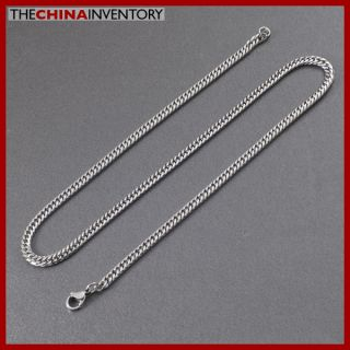4mm Mens 28 Stainless Steel Curb Chain Necklace N5002