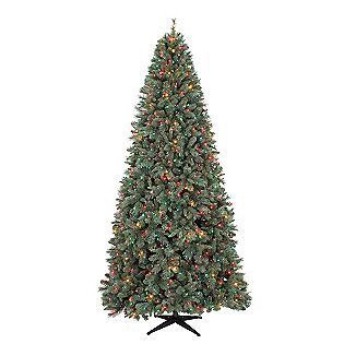 Country Living 9ft Wakefield Blue Green Slim Christmas Tree Multi