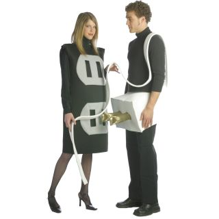 Couples Plug And Socket Funny Humorous Adult Womens Mens Costume