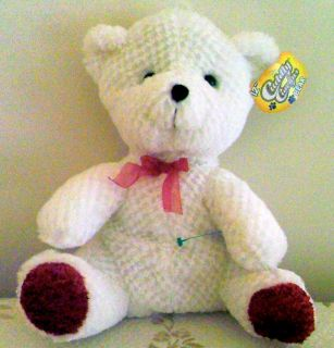 White Teddy Bear Stuffed Animal Plush Cuddly Cousins 12 Gorgeous Bear