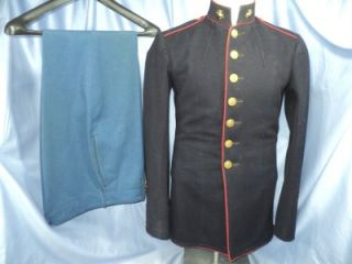 WWII USMC Marine Corps 1936 Pattern Uniform Jacket and Pants IDD