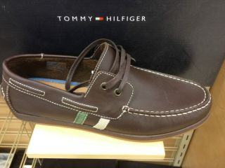 Tommy Hilfiger Scott Mens Boat Shoe Leather Slip on Loafer