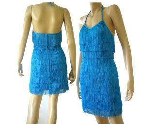 Custom Drag Queen Stage Latin Salsa Fringe Dance Dress