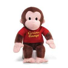 Gund Curious George in Red Shirt 12 inch Monkey Plush 4029019 New