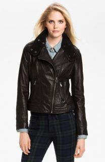 MICHAEL Michael Kors Asymmetrical Zip Leather Jacket