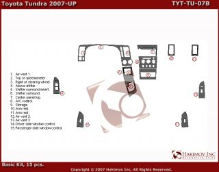 Toyota Tundra 07 09 Carbon Fiber Dash Kit Parts