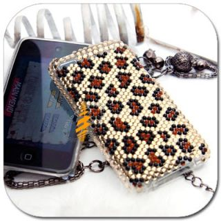 Leopard Bling Hard Skin Case Apple iPod Touch iTouch 4G 4th Generation