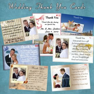 Personalized Wedding Photo Thank You Cards 25 Each Custom Made with