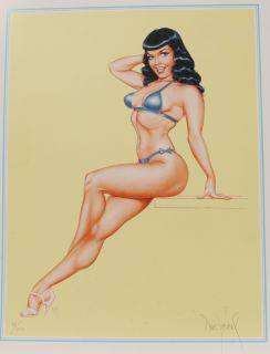 Dave Stevens Signed Limited Print Bettys Page VFN 1994 Bettie 34 16
