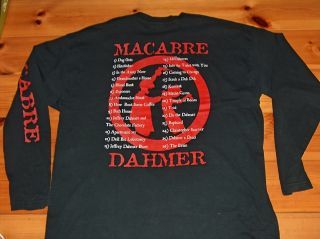 Europe Tour Shirt Suffocation Pestilence Serial Killer Dahmer
