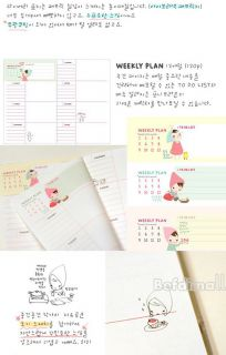 Creative Stationery Cute Journal Planner Diary/Daily planner Book BE0D