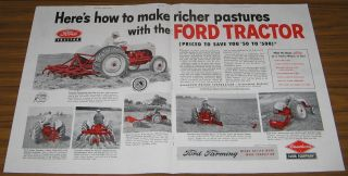 1952 Vintage Ad Ford Tractors Dearborn Farm Equipment