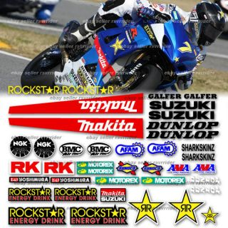 2009 AMA Race Track Decal Kit Fits Suzuki GSXR Model
