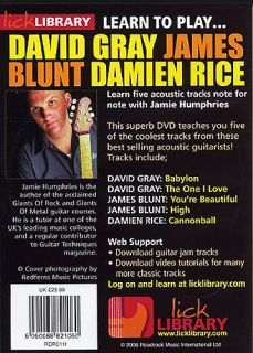 Lick Library Learn to Play Gray Blunt and Rice DVD New