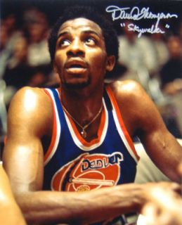 David Thompson Autographed Denver Nuggets ABA 16x20