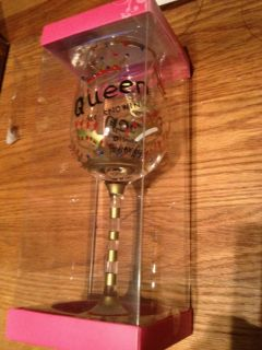 De Lite Hand Painted Personality Wine Glass Queen