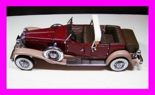 Franklin Mint 1930 Duesenberg J Derham Tourster Precision Models
