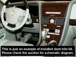 Lincoln Navigator 2005 2006 Wood Carbon Dashboard Dash Trim Kit