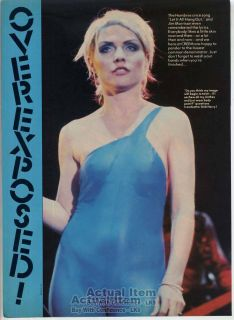 Sexy Debbie Harry Mini Poster Pin Up Page Blondie Overexposed LK9