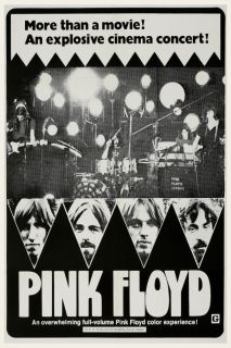 Floyd POSTER Live In Pompeii LARGE 1972 Roger Waters David Gilmour