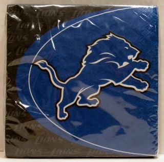 Detroit Lions NFL Football Party Pack of 16 Luncheon Paper Napkins