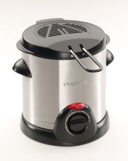 1000 watt deep fryer holds up to a liter of oil 1 1 quarts anodized