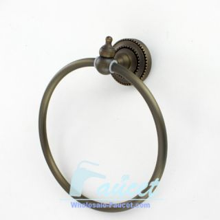 Antique Brass Wall Mount Bathroom Towel Ring FG 511