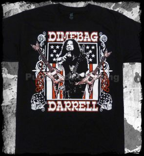 Dimebag Darrell Guitar Flag Pantera Official T Shirt Fast Shipping