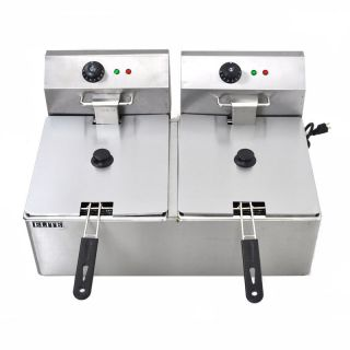 Dual 11 Liters Commercial Electric Deep Fryer Kitchen