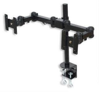 Dual LCD Monitor Stand Desk Clamp Holds Up to 24 Used