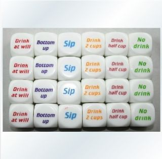 Party Drink Decider Dice Games Pub Bar Fun Die Toy Gift