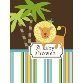 King of The Jungle Baby Shower Boy Party Invitations