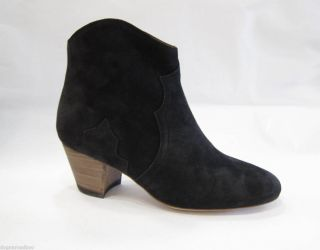 Isabel Marant Dicker Black Suede Boot Shoe 40 or 41