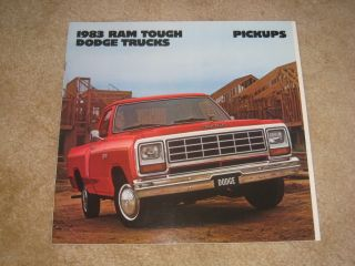 1983 Dodge RAM Pickup Truck Power W150 W250 D150 D250 Sales Brochure