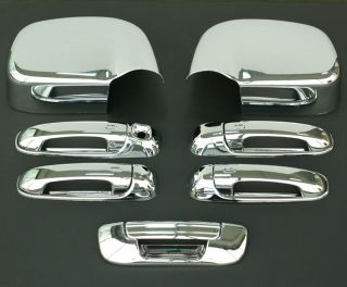 2002 2008 Dodge RAM Chrome Door Handle Mirror Tailgate