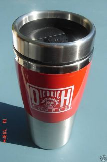 Diedrich Coffee Mug Thermos Red RARE Stainless Steel