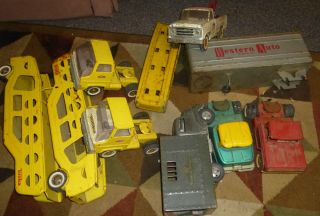 Huge Vintage Tonka Marxs Pressed Steel Tin Truck Lot Restore Parts