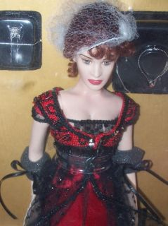 Franklin Mint Titanic Rose Vinyl Doll in The Red Jump Dress 16