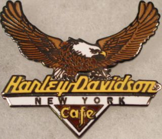 Harley Davidson Cafe New York American Bald Eagle Pin