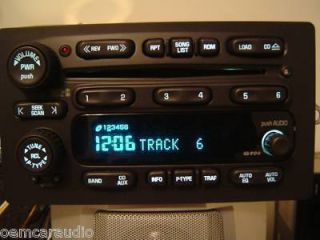 06 Chevy Tahoe Suburban Silverado TRAILBLAZER RADIO 6 DISC CD CHANGER