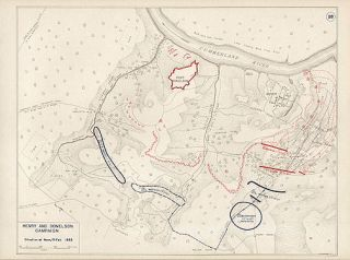 Battle of Fort Donelson Tennessee 6 Genuine Vintage West Point Maps