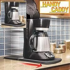Pull Out Coffee Maker Caddy Sliding Appliance Tray New Fresh Organized