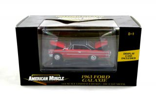 Muscle 1963 Ford Galaxie Red Limited Edition 1 64 Diecast Car