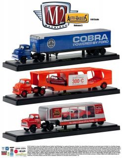 M2 Auto Set of 3 Haulers Ford Series 5 1 64 Diecast Car New