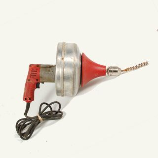 Heavy Duty Electric Snake Drain Cleaner Cat No 0566 1 And Metal Case