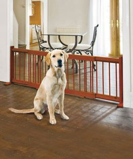 Expandable Wooden Pet Dog Gate Door Kitchen Fence Doorways Nursery