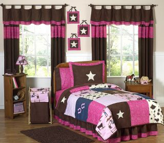 JoJo Pink Brown Western Horse Cowgirl Girl Kid Teen Full Queen Sized