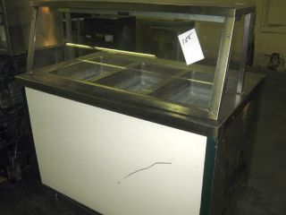 Used Buffet Electric Hot Food 3 Compartment Steam Table With Sneeze