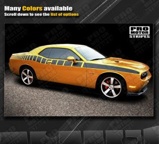 Dodge Challenger Side Strobe Racing Stripes 2011 2012 2013 Decals Pro